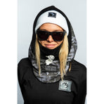 5060615532247, Brethren, Black Ice Druid Hood, Grey, Ski Hood | Snowboard Face Mask