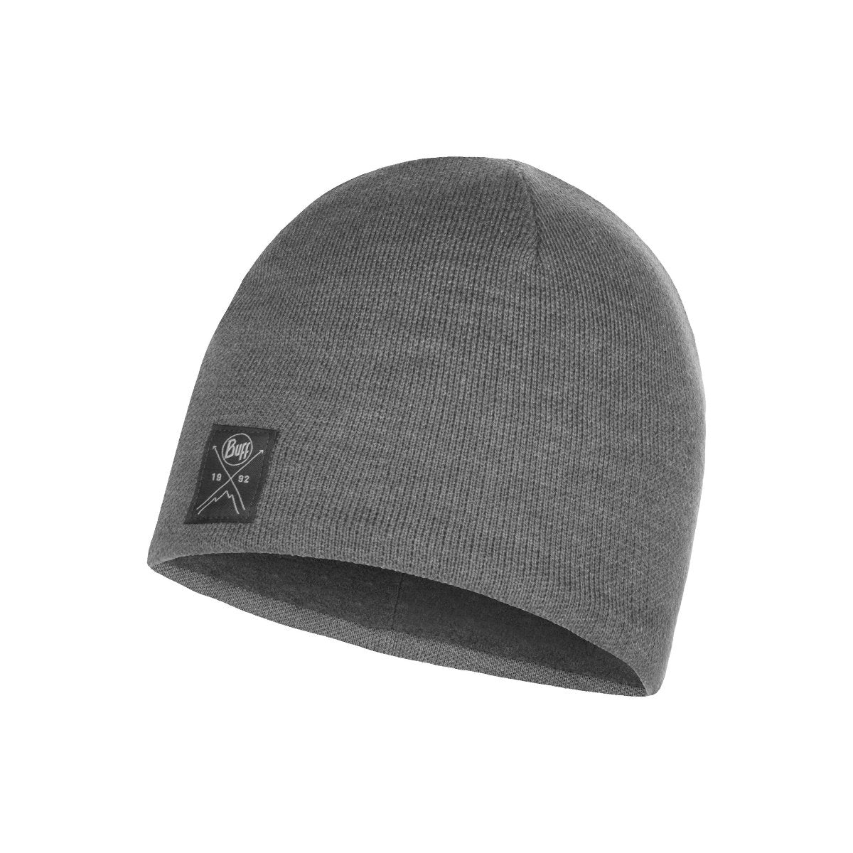 113519.937, Buff, Knitted & Polar Hat Solid Grey, Solid Grey, Beanies for Men | Knitted Beanie