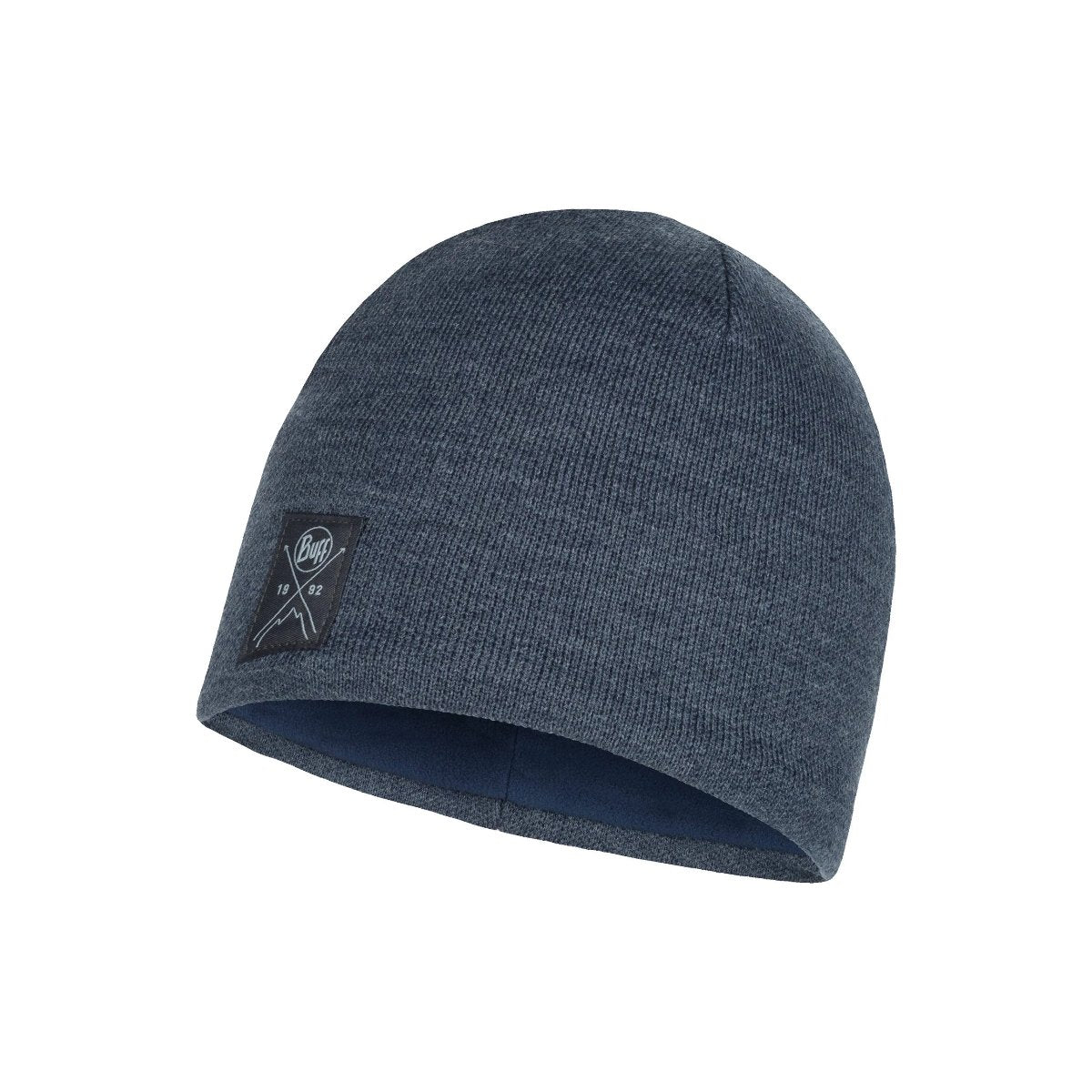 113519.787, Buff, Knitted & Polar Hat Solid Navy, Solid Navy, Beanies for Men | Knitted Beanie