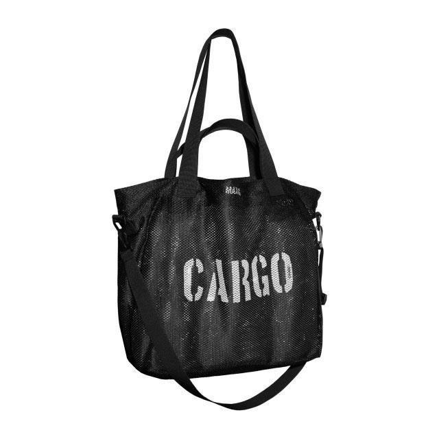CARGO by OWEE | Mesh Tote Bag | Beach, Shopping, Outdoor Gear Bag - Large - Black