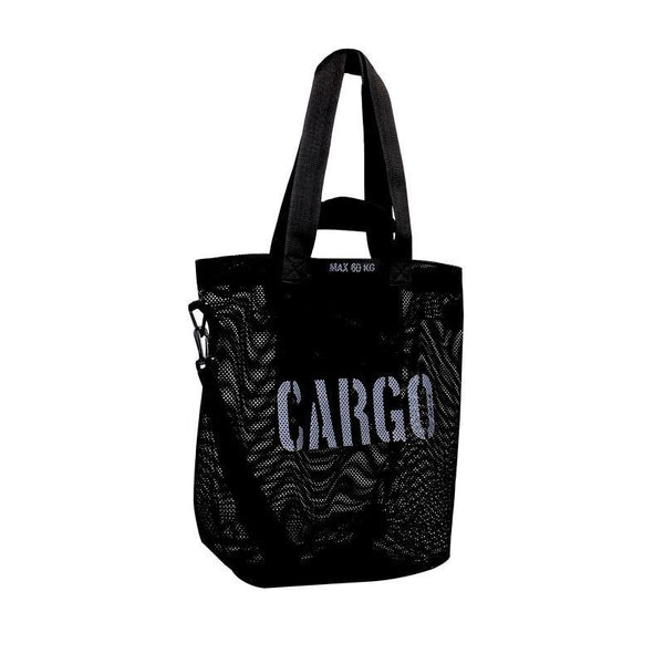 CARGO by OWEE | Mesh Tote Bag | Beach, Shopping, Outdoor Gear Bag - Black