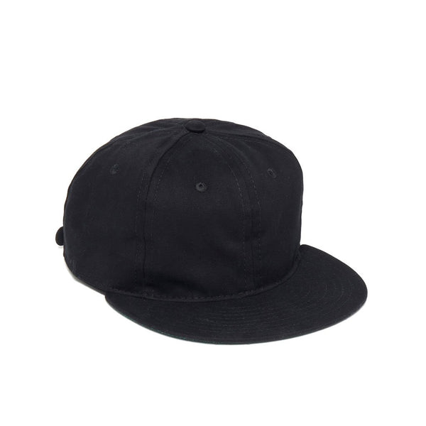 Unlettered Cotton Cap Ebbets Field Flannels BLKBCTN Caps & Hats Adjustable / Black