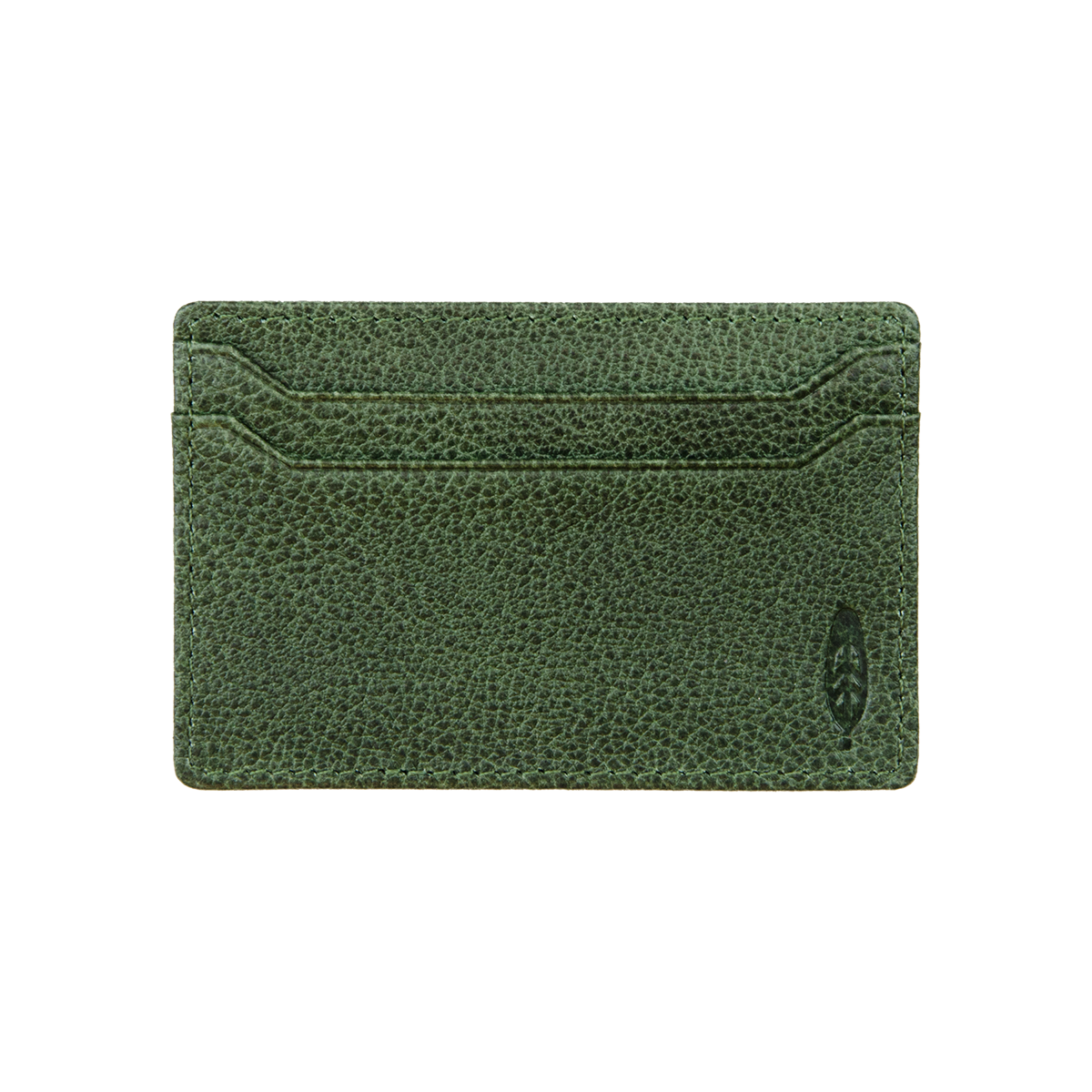 FIDIR » Leather Card Holder Mens - Green Leather Card Holder