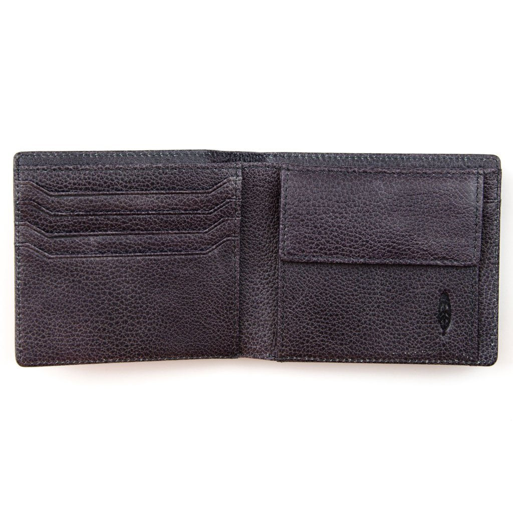 FIDIR » Bifold Wallet - Real Leather Wallet - Blue Leather Wallet