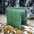FIDIR » Bifold Wallet - Real Leather Wallet - Green Leather Wallet