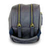 FIDIR » Mens Leather Washbag - Mens Travel Wash Bag - Blue Wash Bag