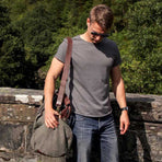 FIDIR » Wide Neck T-Shirt - Mens Tee Shirt - Grey T-Shirt Mens