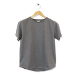 FIDIR | Wide Neck T-Shirt | Mens Tee Shirt | Grey