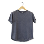 FIDIR | Wide Neck T-Shirt | Mens Tee Shirt | Blue