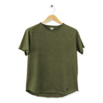 FIDIR | Wide Neck T-Shirt | Mens Tee Shirt | Green