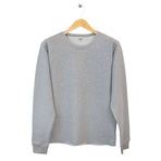 FIDIR » Mens Grey Sweatshirt - Mens Plain Sweatshirt