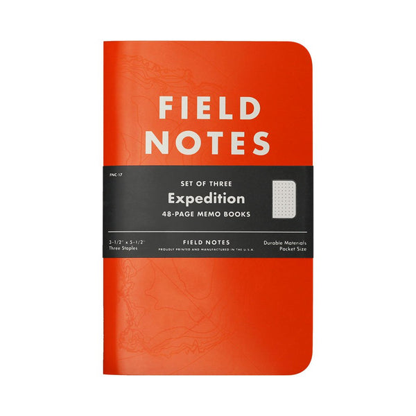 Expedition Edition 3-Pack Field Notes FNC-17 Notebooks 3 Pack / Orange