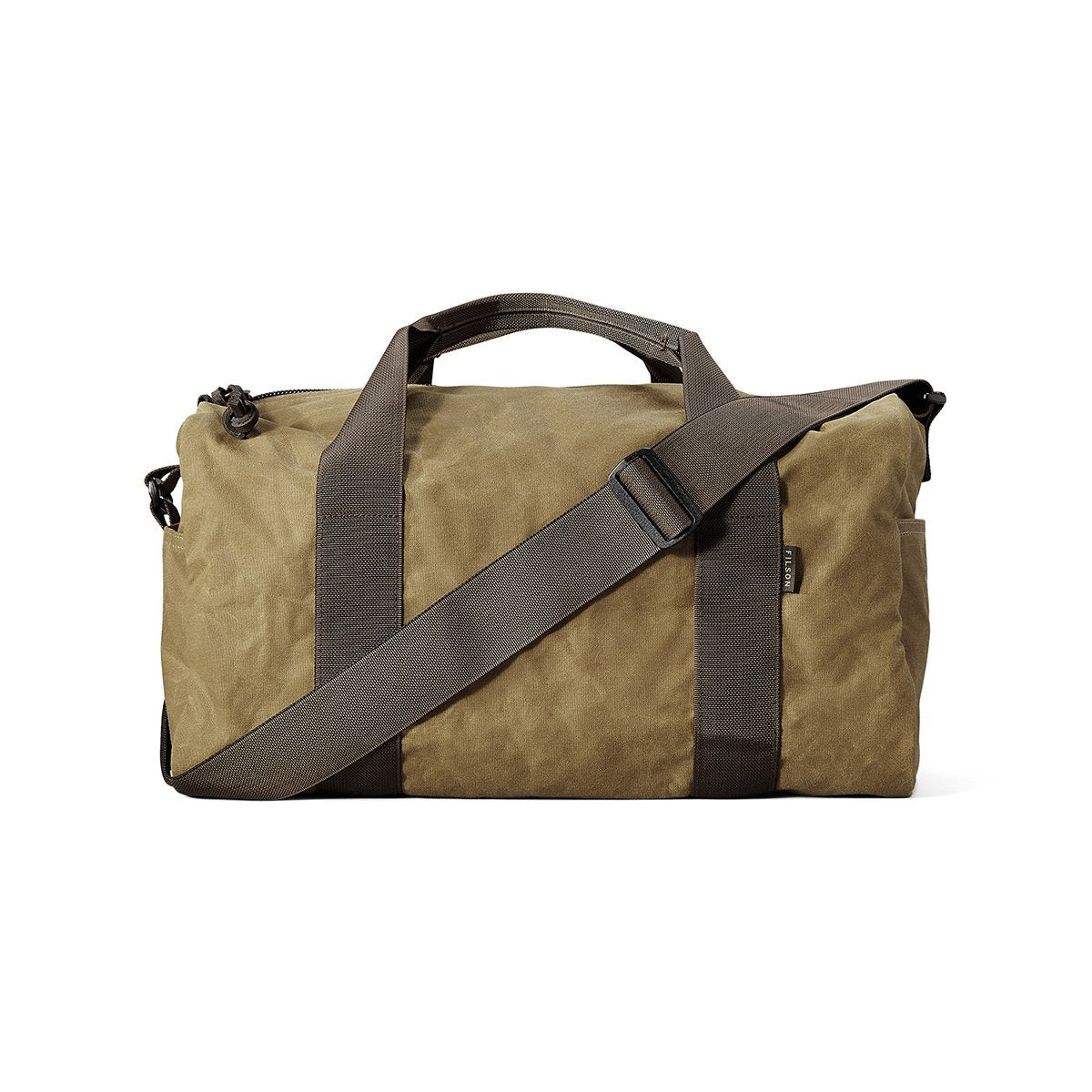 11070110-DTB, Filson, Small Tin Cloth Field Duffle Bag, Dark Tan/Brown, Mens Overnight Bag