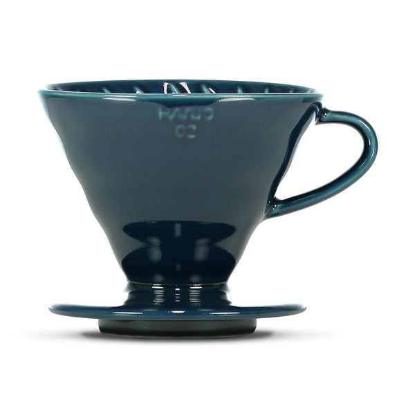 V60 2-Cup Ceramic Dripper Hario VDC-02IB-BBH Drippers 2-4 Cup / Indigo Blue