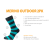 Horizon Socks » Heritage Merino Outoor Socks | Mens 2 Pack | Red/Charcoal