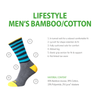 Horizon Socks » Men's Bamboo | Cotton Socksl | Mens 2 Pack | Grey/Burgundy