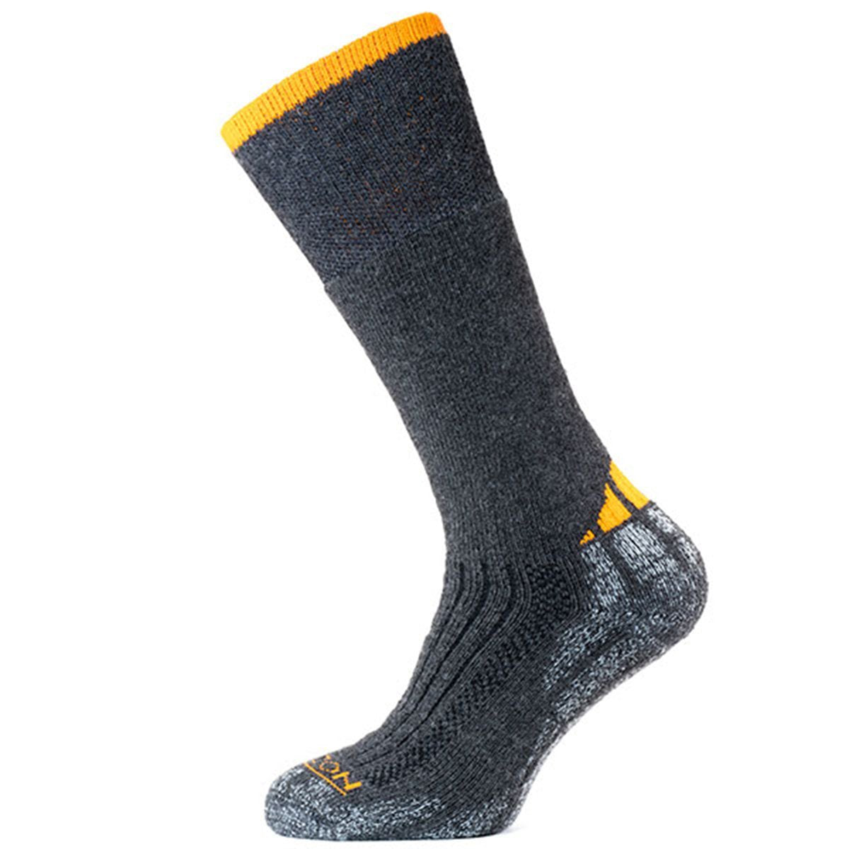 Horizon Socks » Performance Extreme | Mens Wool Socks - Charcoal/Orange