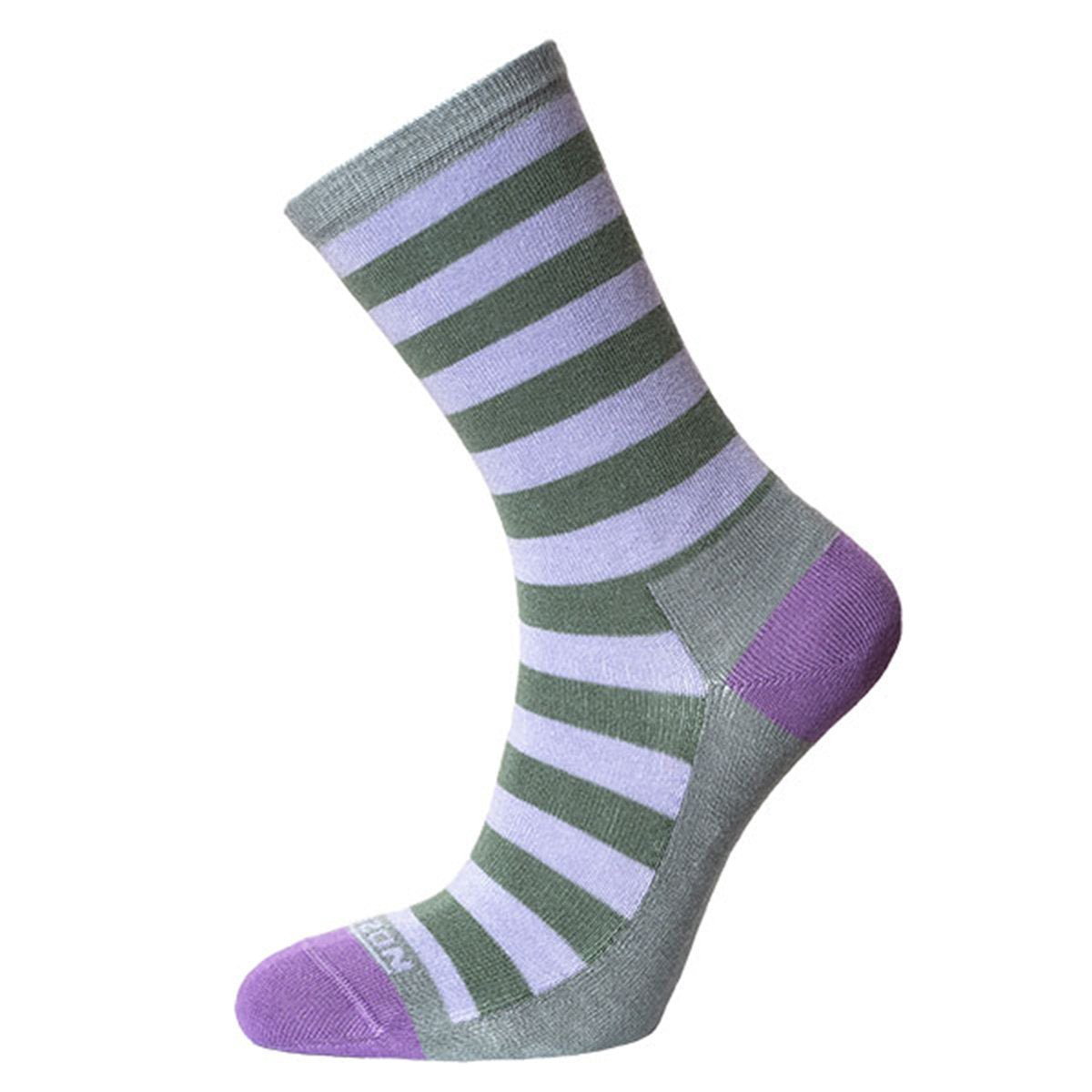 Horizon Socks » Leisure Lifestyle Women's Bamboo Socks - Lilac/Khaki