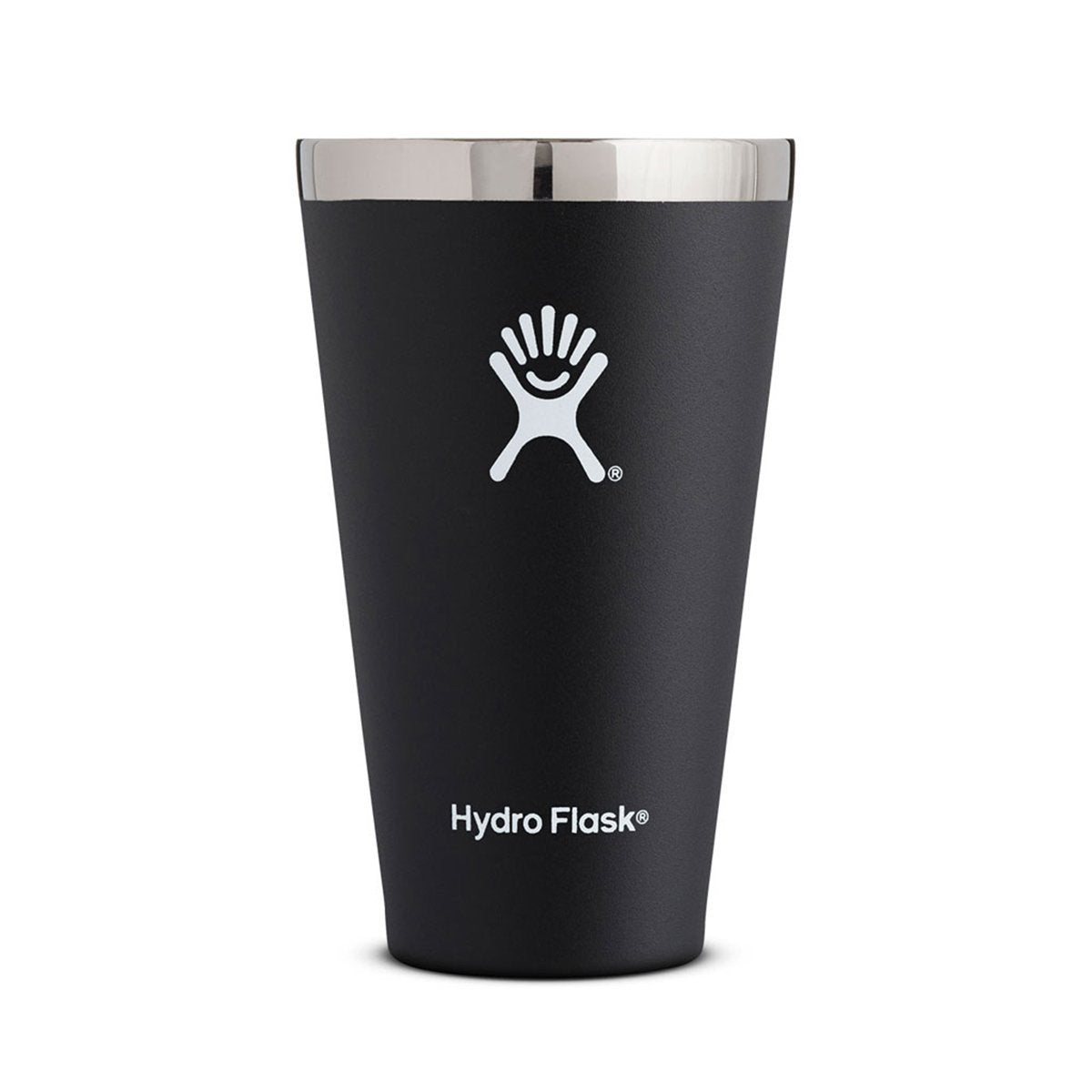Hydro Flask | 16 oz Tumbler | Stainless Steel Pint Glass | Black