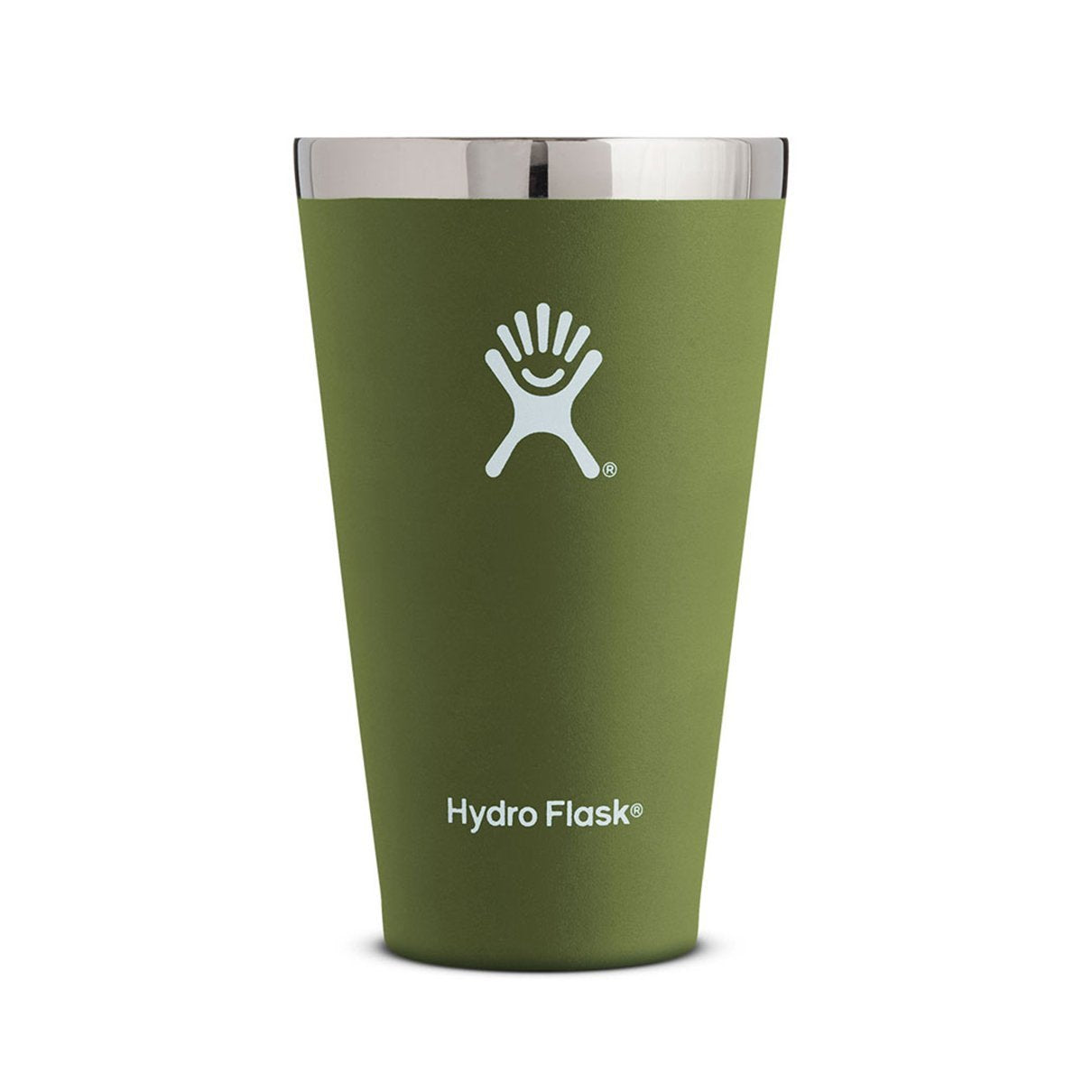 Hydro Flask | 16 oz Tumbler | Stainless Steel Pint Glass | Olive