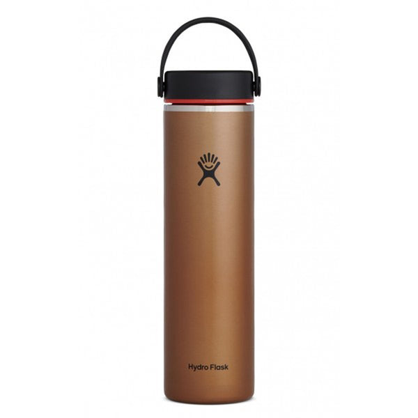 24 oz Lightweight Wide Mouth Hydro Flask LW24LW082 Water Bottles One Size / Clay
