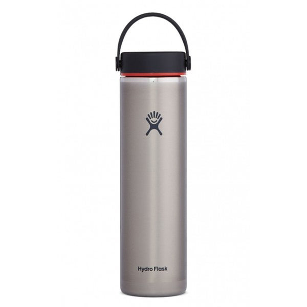 24 oz Lightweight Wide Mouth Hydro Flask LW24LW081 Water Bottles One Size / Slate