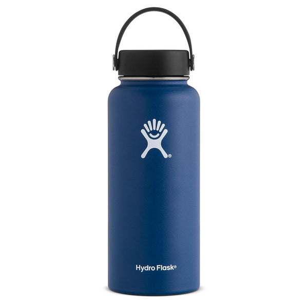 32 oz Wide Mouth Hydro Flask W32BTS407 Water Bottles One Size / Cobalt