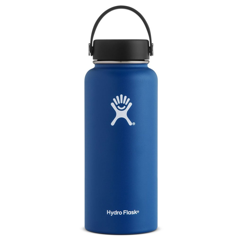 Hydro Flask, 32 oz Wide Mouth Insulated Water Bottle, Cobalt