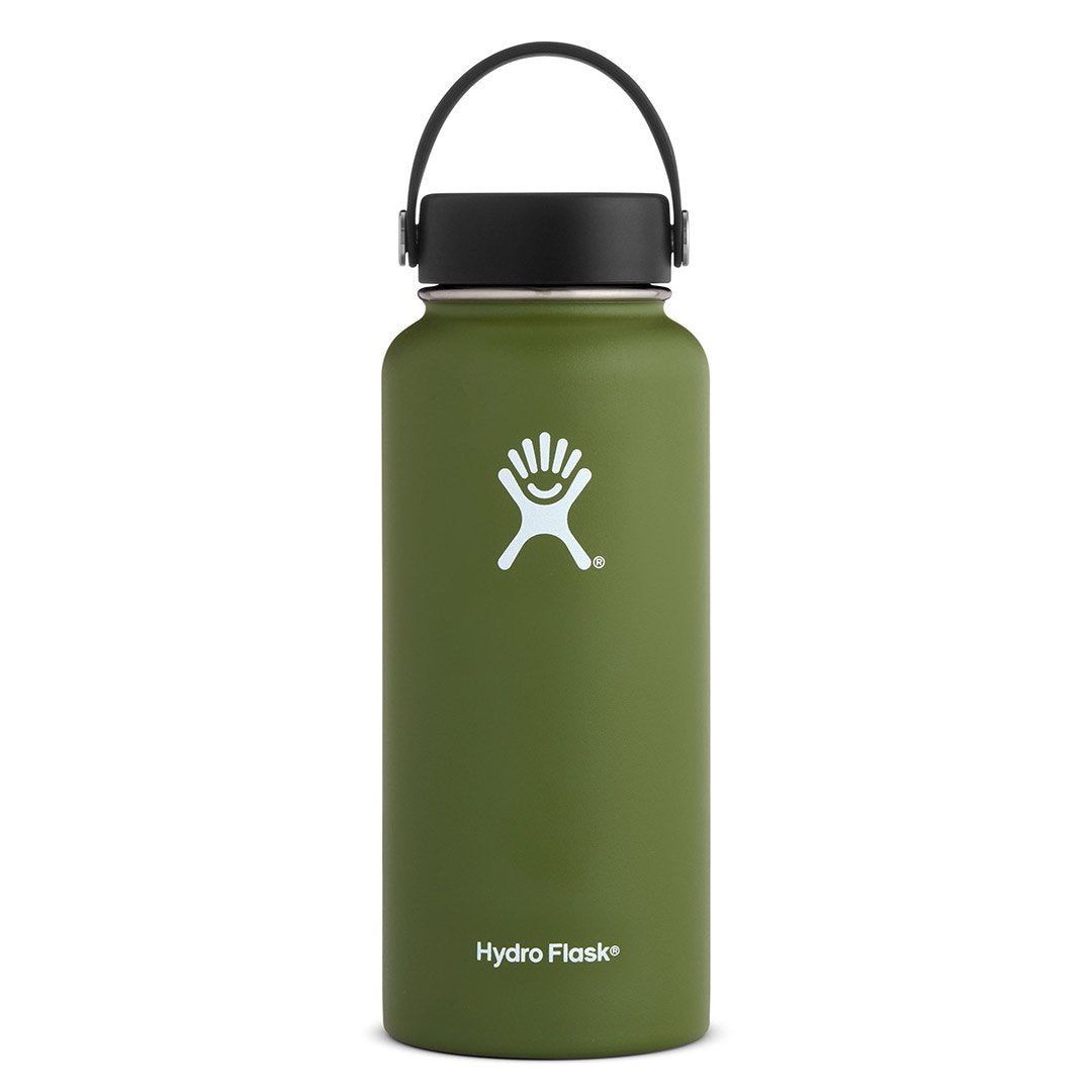 Hydro Flask - 32 oz Wide Mouth » Insulated Water Bottle - Olive