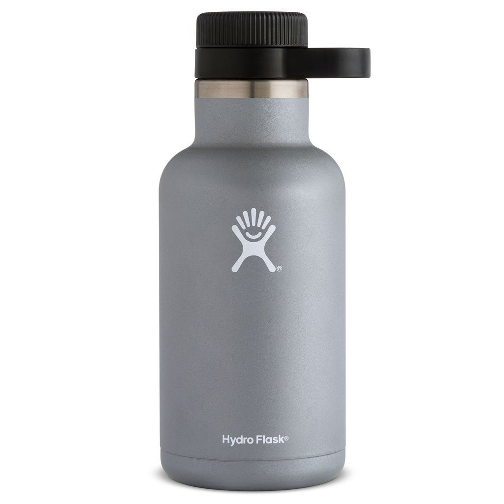 Hydro Flask - 64 oz Growler, Insulated, Stainless Steel Beer Growler - Grey, silver, graphite