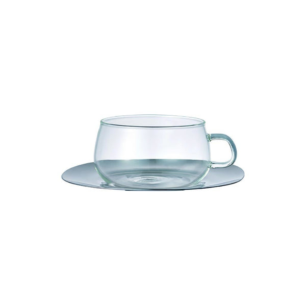 Unitea Cup & Saucer 230ml Kinto 8337 Mugs 230ml / Stainless Steel