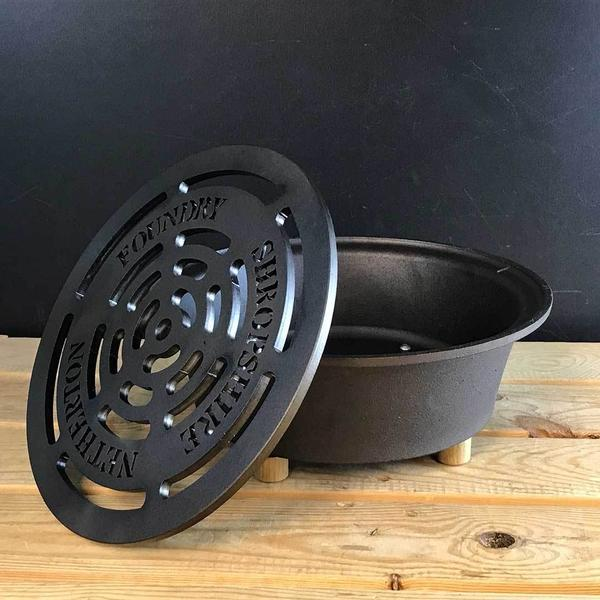 Netherton Foundry » Cast Iron Outdoor Hob with Grid - Garden Hob