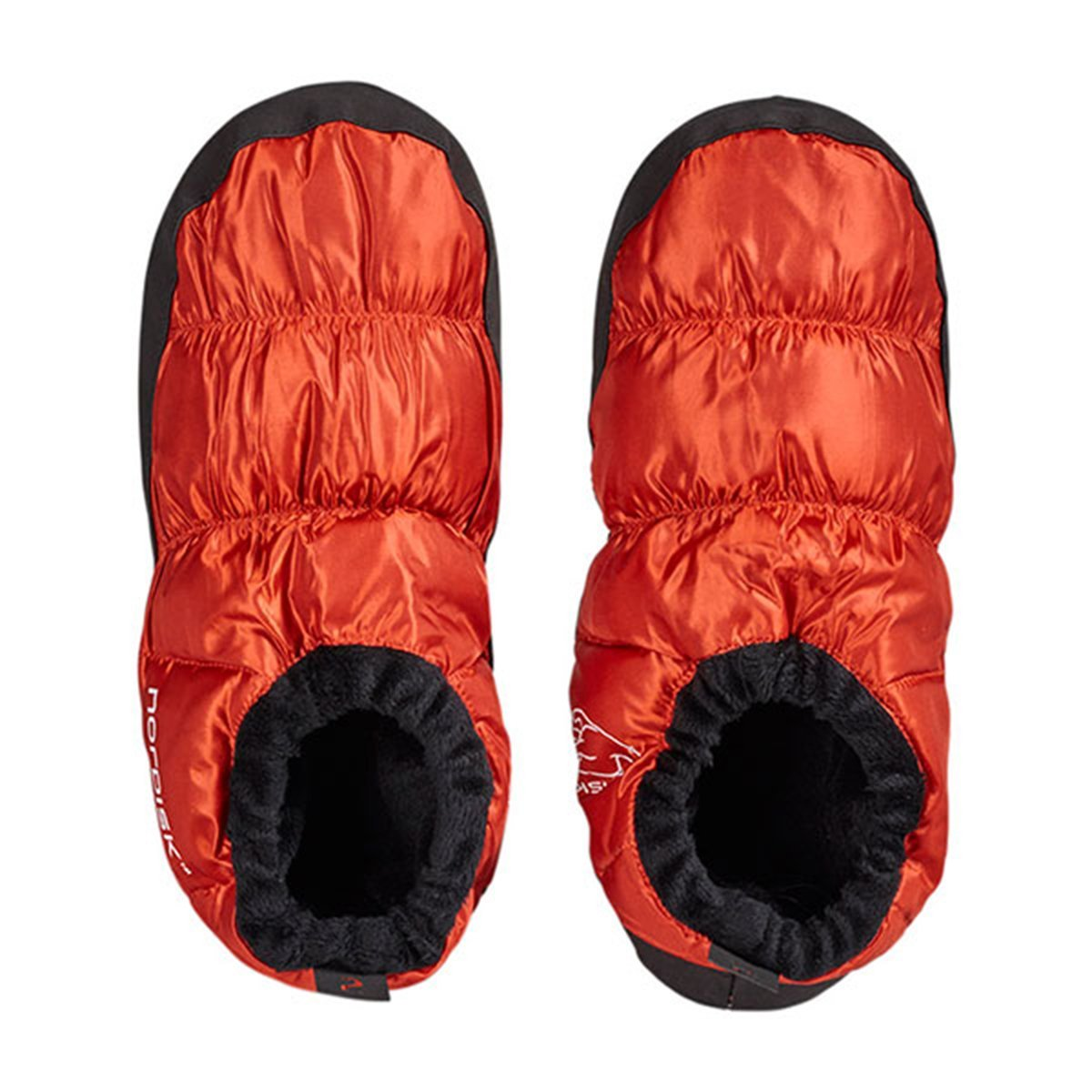 Nordisk Slippers | Down Slippers | Nordisk Mos Down Shoes - Red Orange