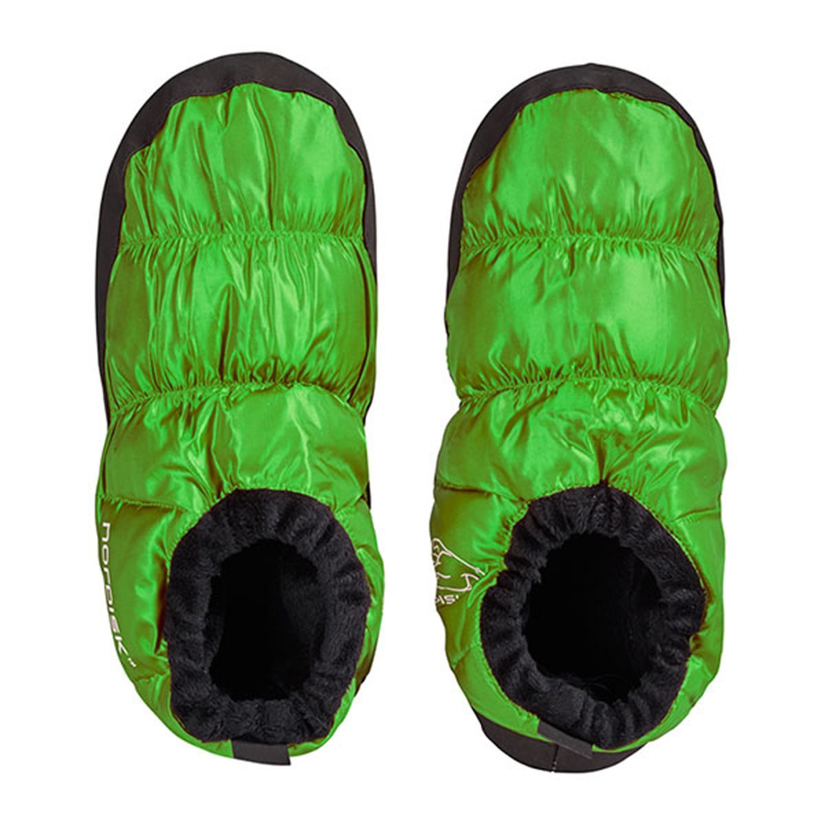 Nordisk Slippers | Down Slippers | Nordisk Mos Down Shoes - Green