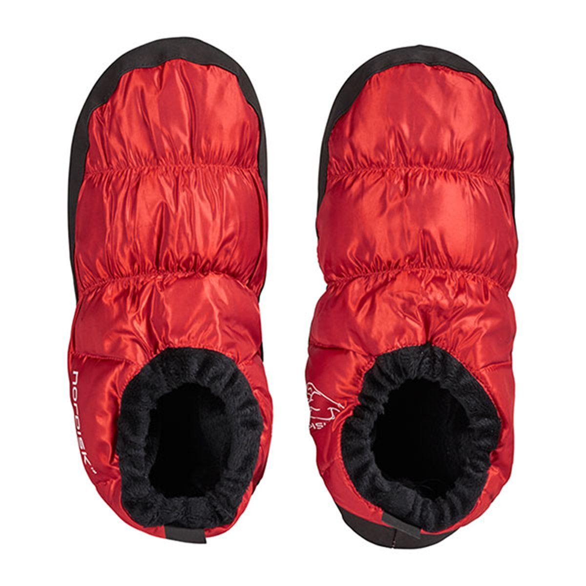 Nordisk Slippers | Down Slippers | Nordisk Mos Down Shoes - Ribbon Red