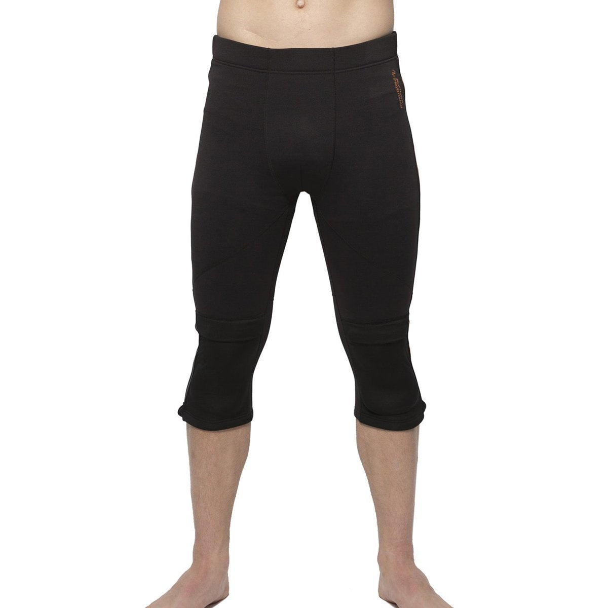 Northern Playground, Ziplongs Padded - 3/4 Length - Men's, Black, Mens Baselayer