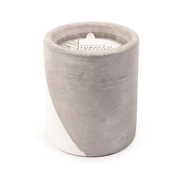 Urban Concrete Pot 12 oz | Tobacco & Patchouli Paddywax PWUR1201 Candles 12 oz / White