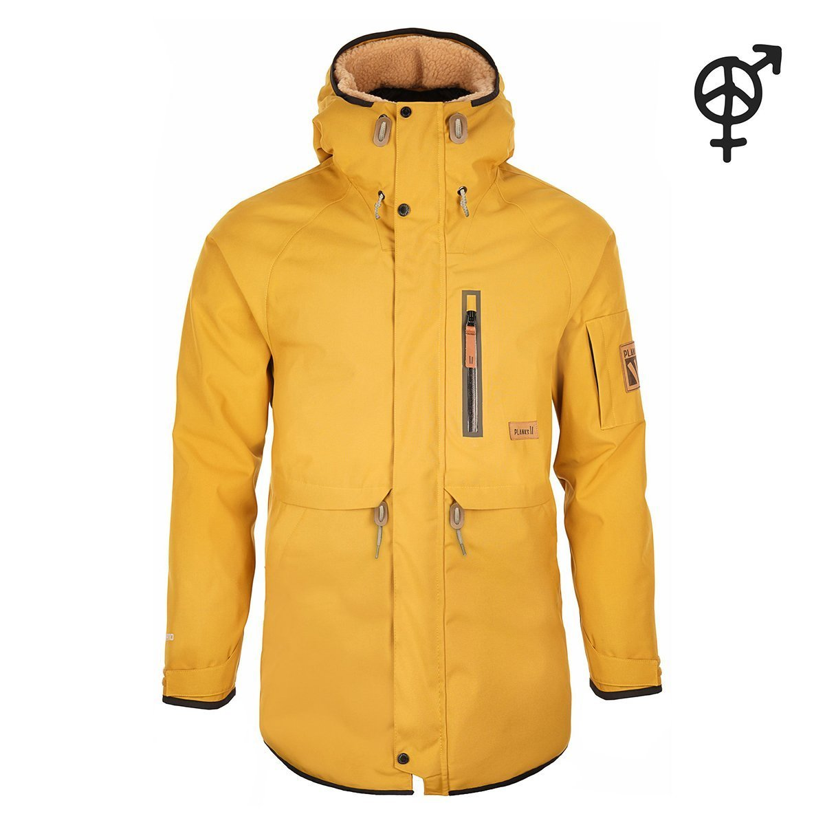 UO-TPP101B-S, Planks, The People's Parka, English Mustard, Ski Coat | Snow Jacket