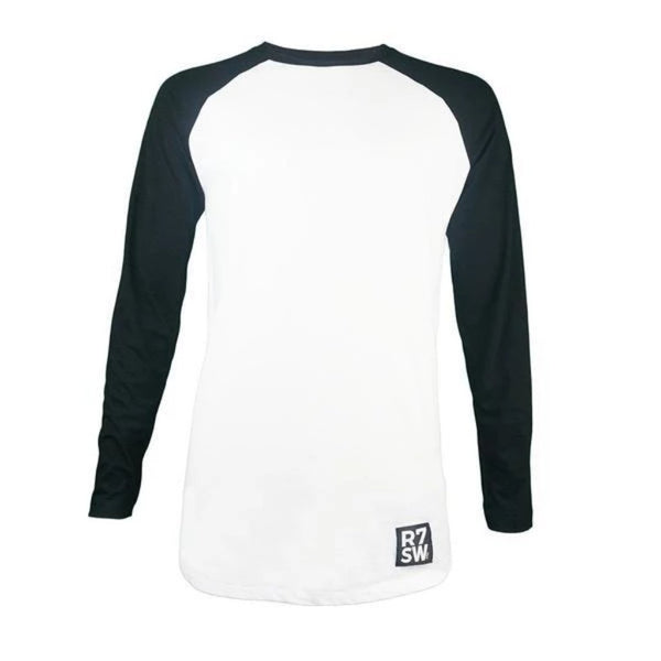 Red7SkiWear » Organic Cotton Baseball T-Shirt - Unisex Eco-Friendly T-Shirt - Black
