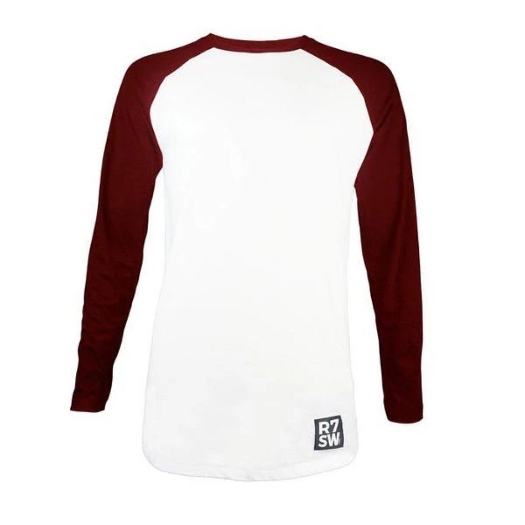 Red7SkiWear » Organic Cotton Baseball T-Shirt - Unisex Eco-Friendly T-Shirt - Burgundy