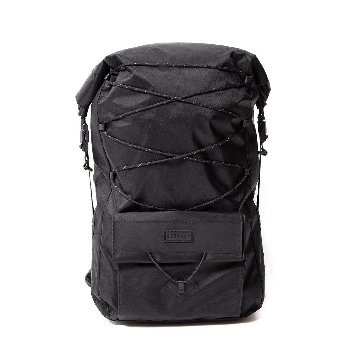 Restrap | Ascent Backpack | Roll Top Backpack | Waterproof Rucksack | Black