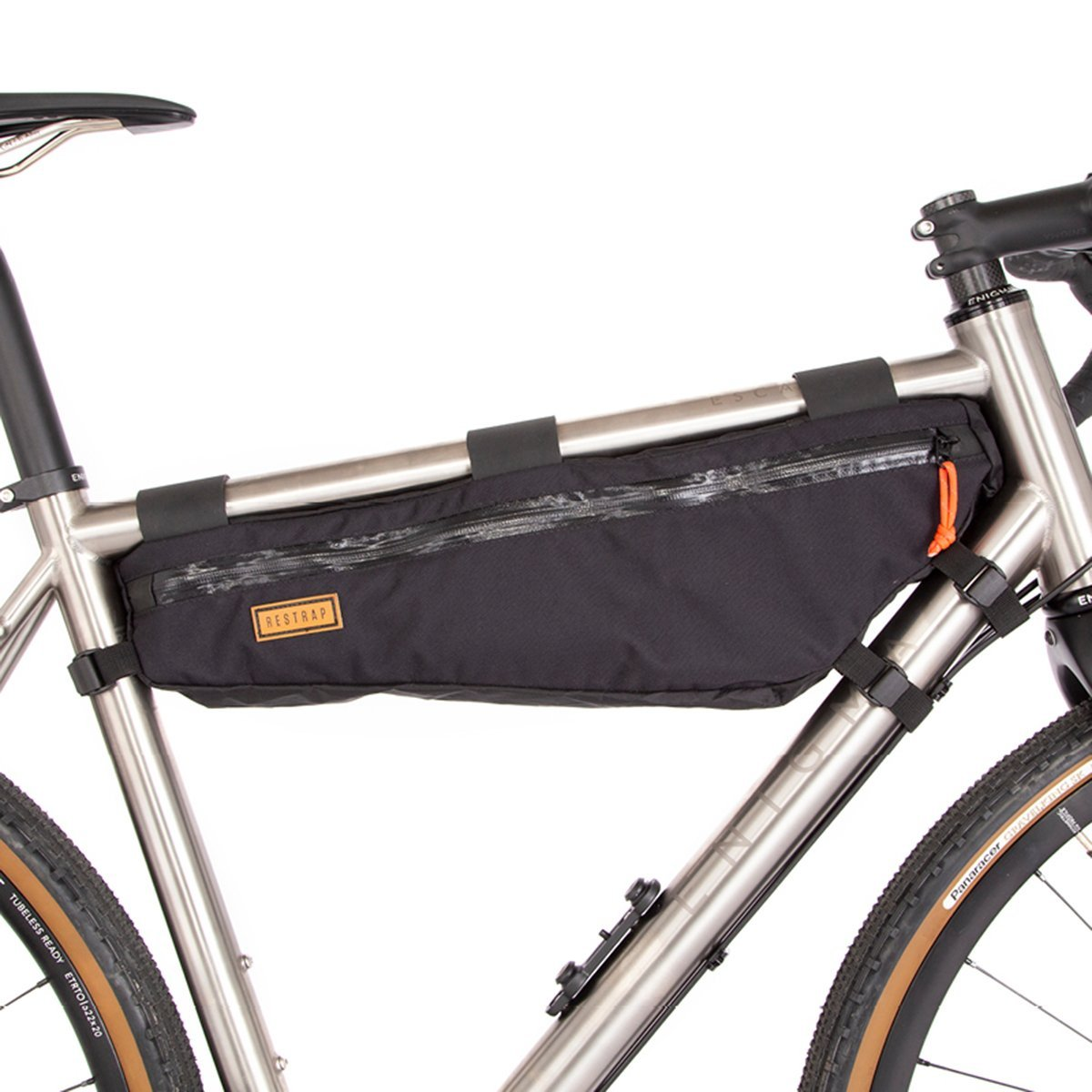 Restrap | Frame Bag | Large | Bike Frame Bag | Bikepacking Bag | Black