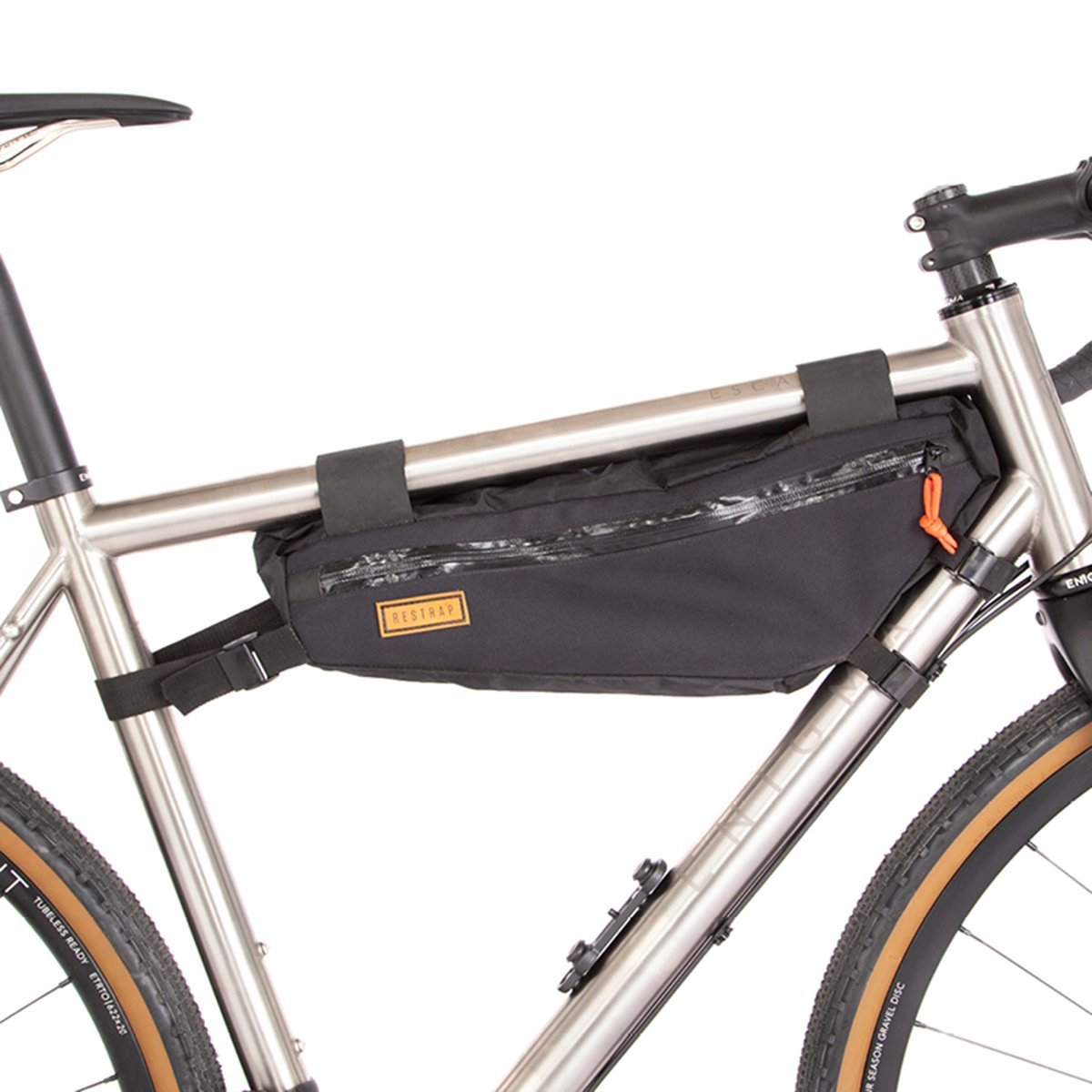 Restrap | Frame Bag | Medium | Bike Frame Bag | Bikepacking Bag | Black