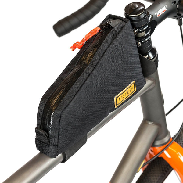 Restrap | Top Tube Bag | Bike Frame Bag | Bikepacking Bag | Black