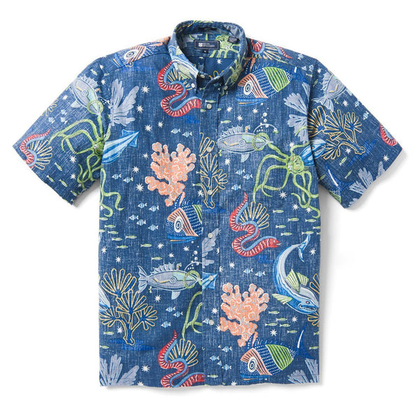 Deep Sea Jive Tailored Buttonfront Reyn Spooner Shirts - Men
