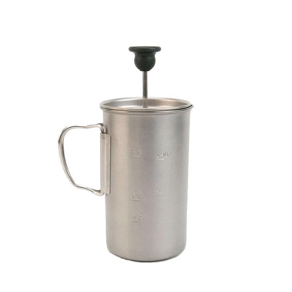 Titanium French Press (3 Cups) Snow Peak CS-111 Coffee Makers 3 Cups / Titanium