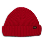 ATL_CAP_RED, &SONS, Atlantic Watch Cap, Poppy Red, Wool Beanie | Woollen Cap
