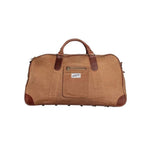 &SONS | Big Weekend Bag | Mens Thick Canvas Weekender Bag | Tan