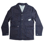 &SONS | Crafter II Chore Jacket | Mens Denim Chore Coat | Raw Navy