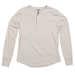 &SONS Elder Grandad Top, Mens Henley Shirt Long Sleeve - White cream